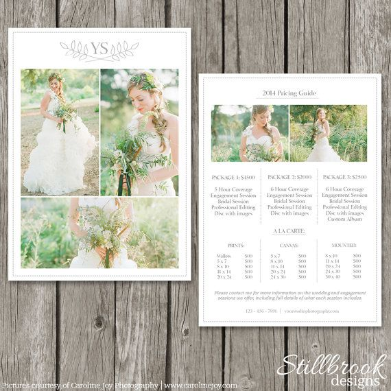 24 best Wedding photography brochure images on Pinterest - wedding price list