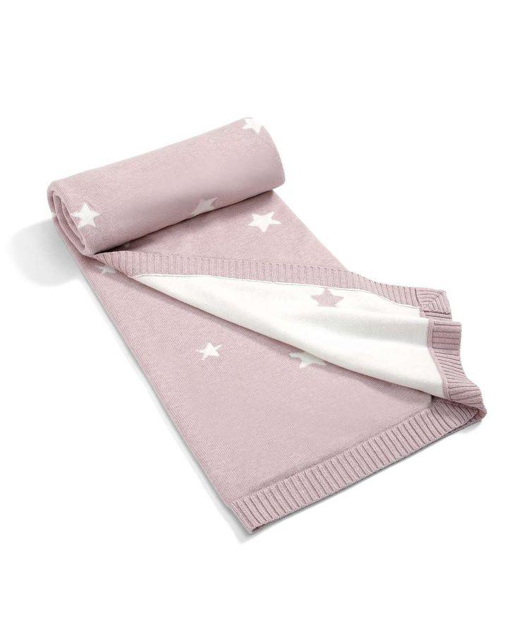 Millie & Boris - Girls Small Knitted Blanket - 70 x 90cm - Millie & Boris Unisex - Mamas & Papas #mamasandpapas #dream nursery
