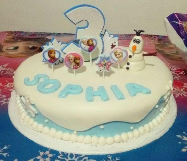 Torta de Frozen... En fondant, Olaf