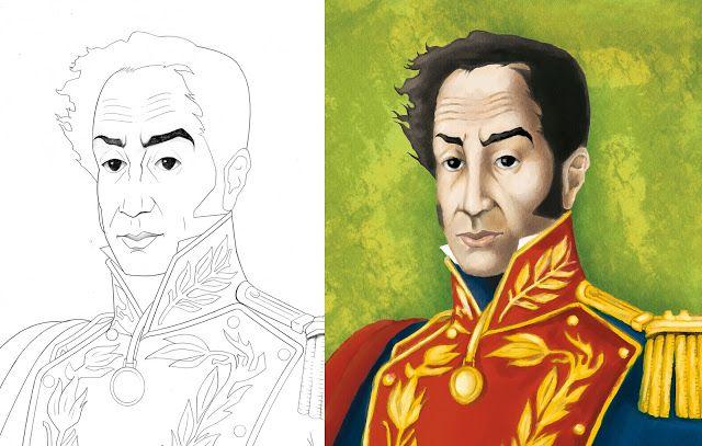 Dibujos Para Colorear De Simon Bolivar Con Imagenes Natalicio