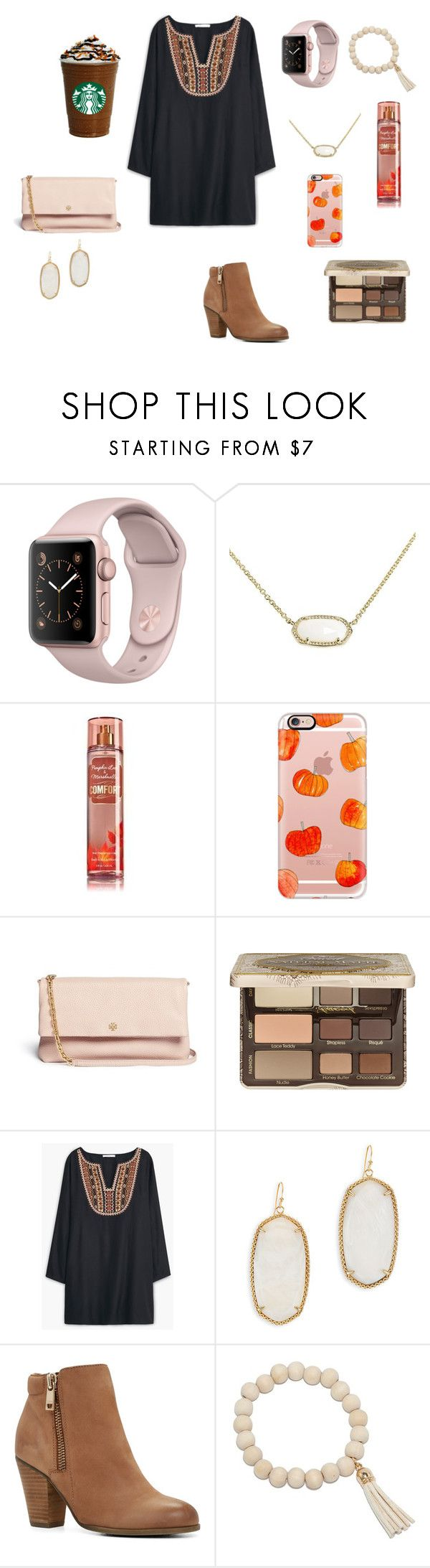 """""""Church"""" by mae343 on Polyvore featuring Kendra Scott, Casetify, Tory Burch, Too Faced Cosmetics, MANGO, ALDO and LBD"""