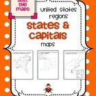 This product includes 3 different maps of each of the five regions of the United States (15 maps in all).   •	Study guide map labeled with the stat...