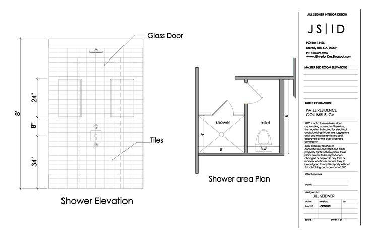 Columbus Ga Master Bathroom Elevation Drawing Shower