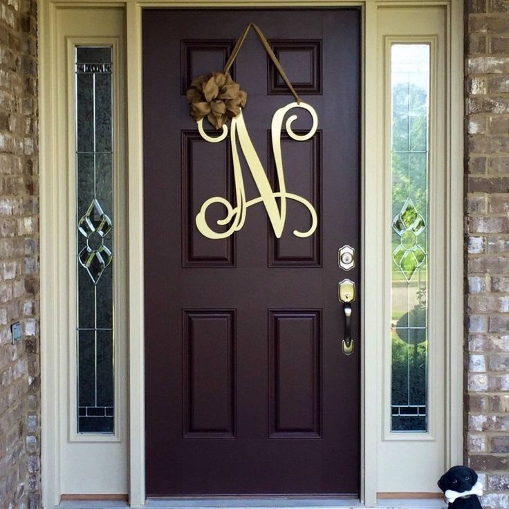 Monogram Front Door Decoration: Best 10+ Letter Door Wreaths Ideas On Pinterest