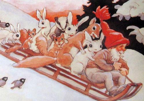 Rudolf Koivu -- Sledding party