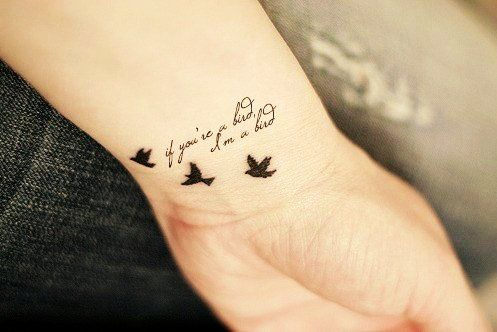 Cute: Cute Wrist Quote Tattoos for Girls - Best Bird Wrist Quote Tattoos…