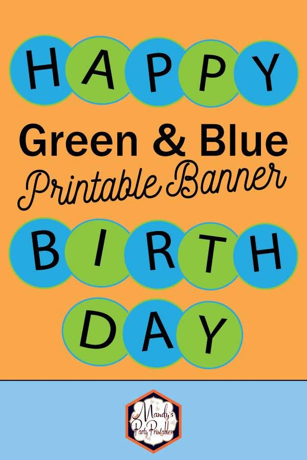 image relating to Free Printable Birthday Signs referred to as Free of charge Printable Birthday Banner Plans Do-it-yourself Printable Decor