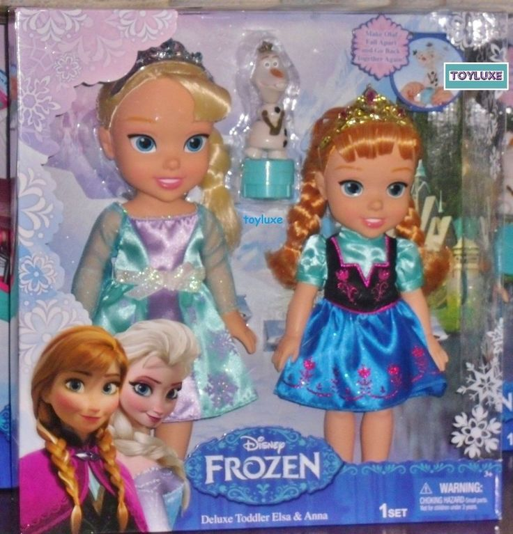 Disney Frozen Deluxe TODDLER ELSA & ANNA Doll Set with Olaf Toy Figure Character #Disney #DollswithClothingAccessories