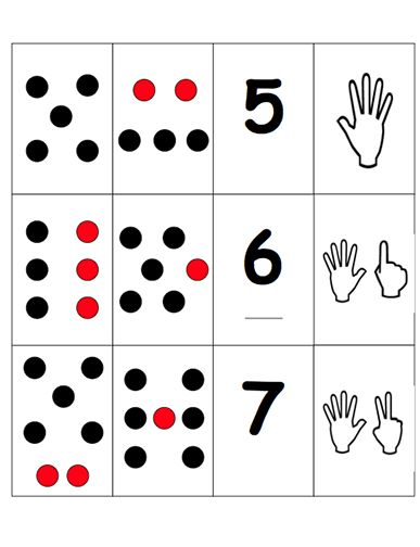 Here's a set of cards for playing a memory game focused on the skill of subitizing. Includes directions for play.
