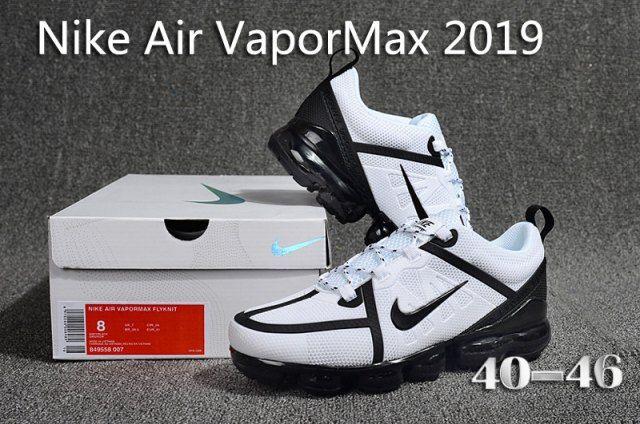 the latest d73e7 fe124 Nike Air Vapormax 2019 KPU White Black Men s Running Shoes Sneakers