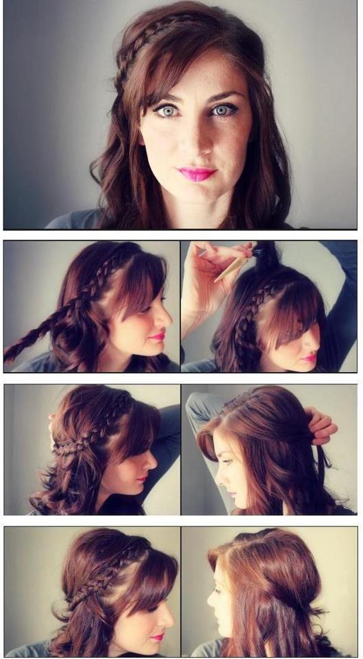 como hacer un peinado facil y bonito *w*