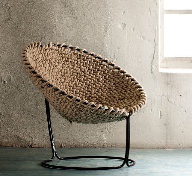 Chairs such as this, I find very interesting, it gives kind of a rustic look but could also be used in a sea themed room because of the rope. Anyways I've always thought round chairs like these were pretty cool