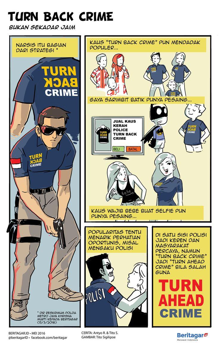 KASUAL | Gaya kasual seragam polisi, bukan untuk berlibur tapi bekerja, ini kian mendemam sejak polisi melawan teroris di depan Gedung Sarinah, Jakarta, Januari 2016.