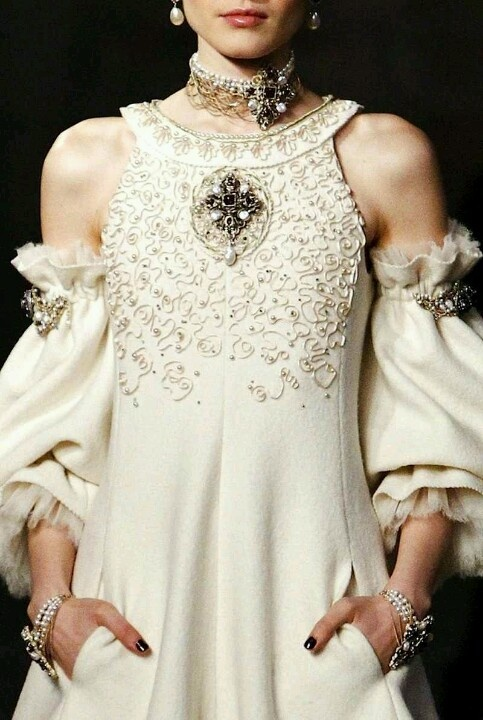Chanel Couture-Oh, to have a reason to wear this! Details!