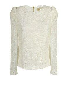 Creamy Cataila Lace Blouse