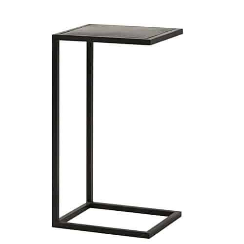 Tavolino da salotto stile industriale in metallo nero