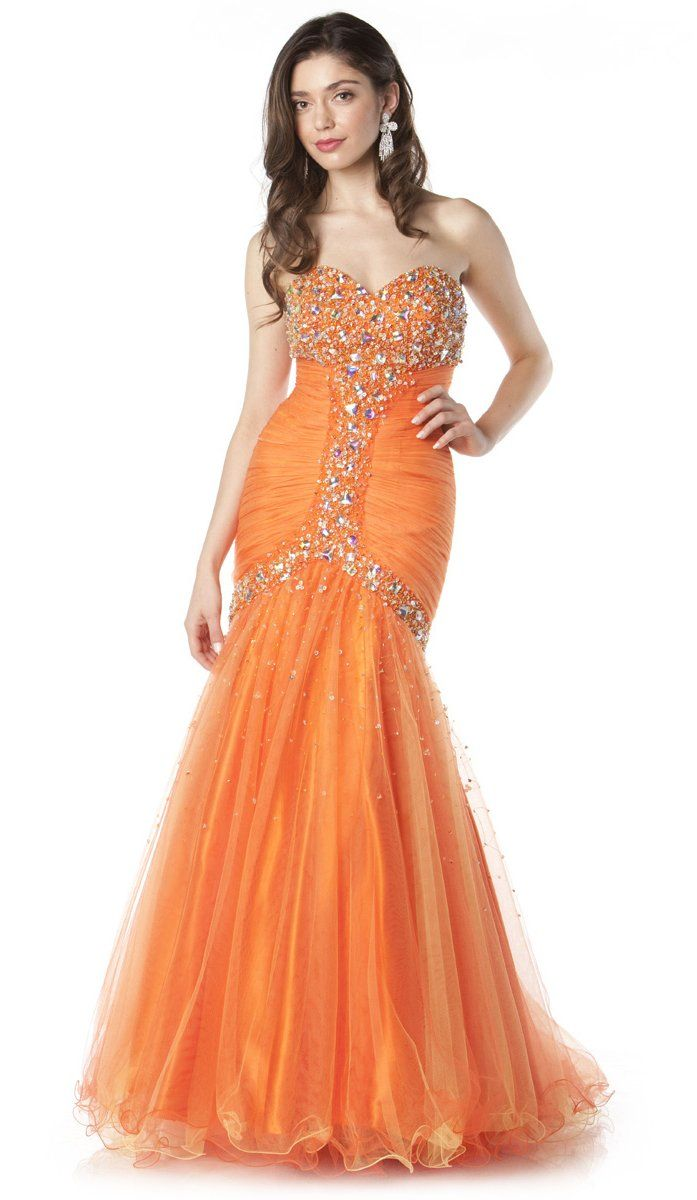 76 best Orange Dresses images on Pinterest | Orange dress, Ball ...