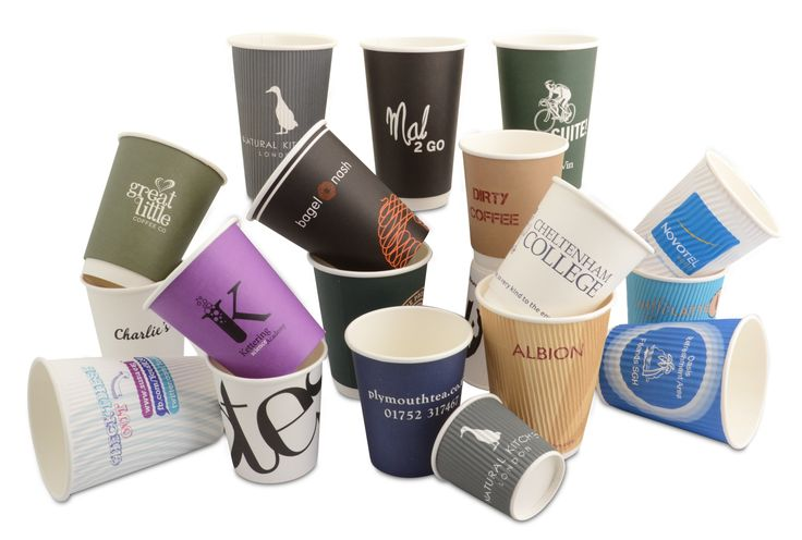 Custom printed coffee cups with your logo and branding.