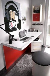 Mesa escritorio con panel inferior