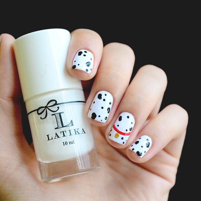 Nail art 101 dalmatians: http://omundodejess.com/2015/03/favoritos-da-semana-25/   Jess Vieira