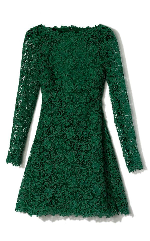 Long sleeve lace mini dress-- just lovely. Perfect for this year's holiday party