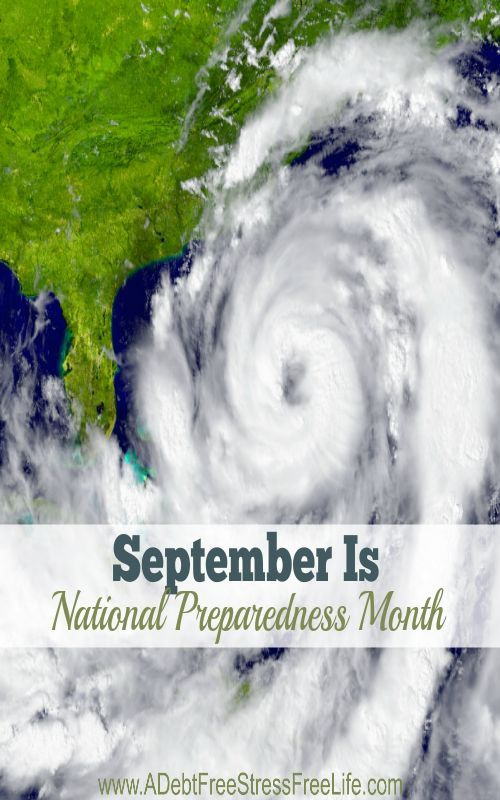 September is National Preparedness Month.  Do you have a plan to keep your family safe?  Grab the free template and start your plan today!