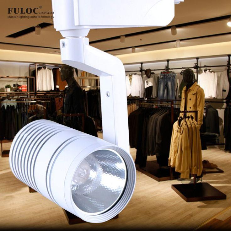 LED ceiling spotlight cob led track light 10w 15w 20w 25w 1000lm-4000lm AC85-265v led track light alunminum  #Affiliate