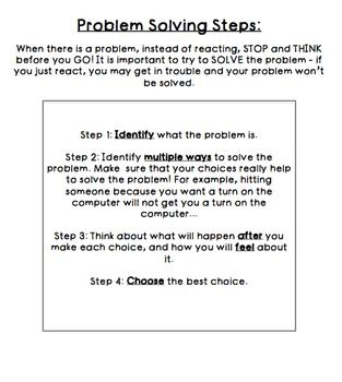 Social Problem Solving Worksheets Free Problem Solving Worksheet Problem Solving Social Problem