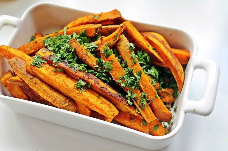 Ginger + Curry Sweet Potato Fries | Side Dishes | Pinterest