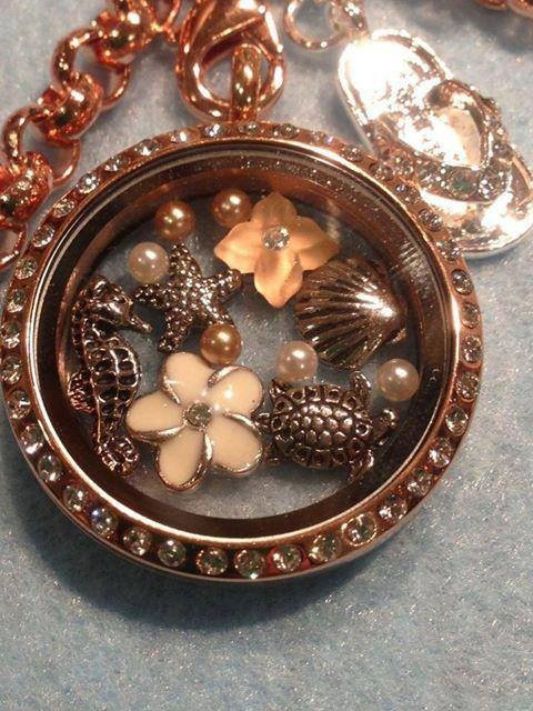 A tropical escape in a beautiful locket from South Hill Designs. www.southhilldesigns.com/cassieschreifels