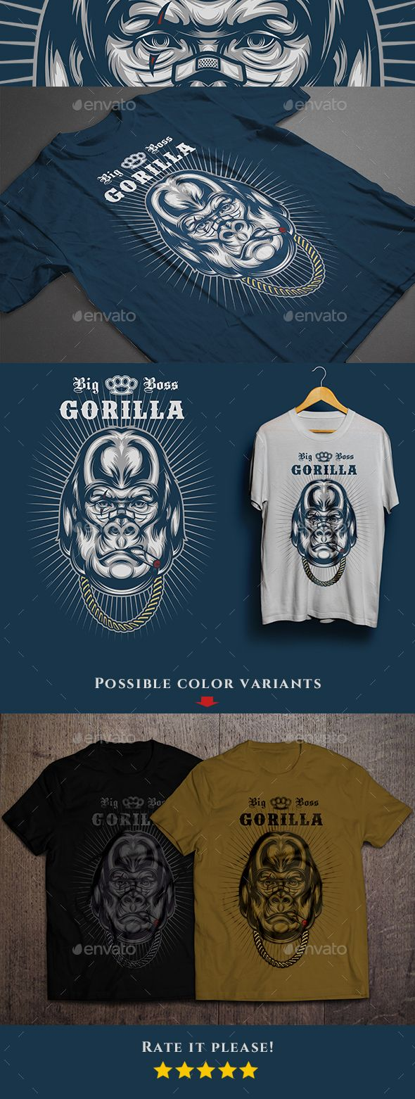 Big Boss Gorilla #T-shirt - Funny Designs Download here: https:/