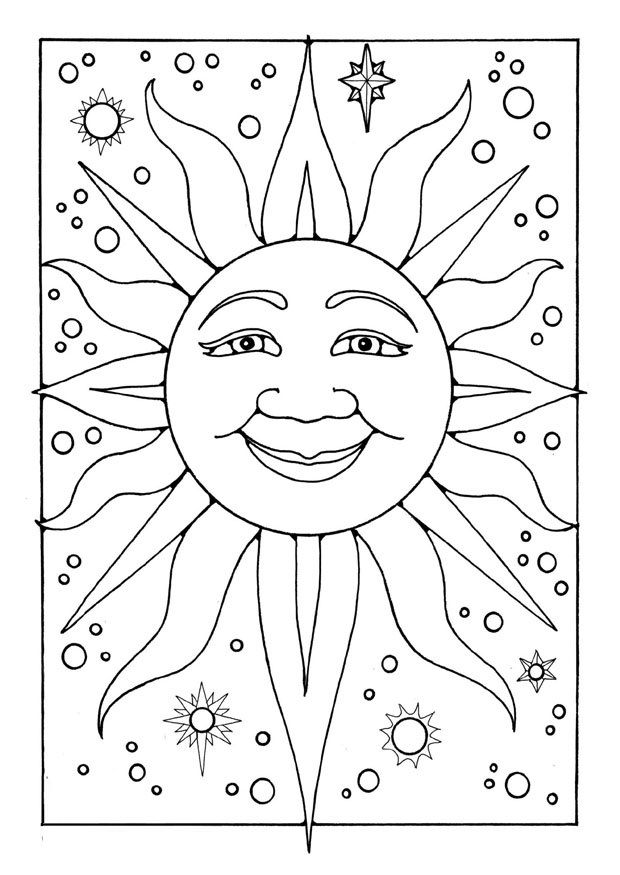 25 Interesting Sun Coloring Pages :If your kid is fascinated by this amazing and gigantic star called sun, give him some more of it by getting him to color these sun coloring sheets.