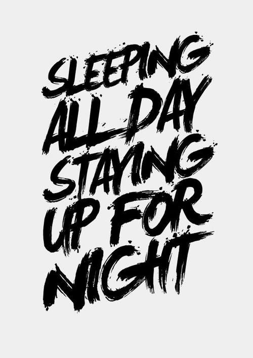 #Typography #brush #upallnight