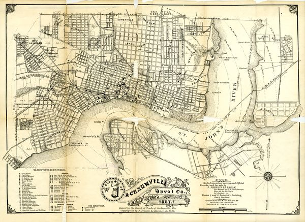 Florida Memory - City of Jacksonville map 1887