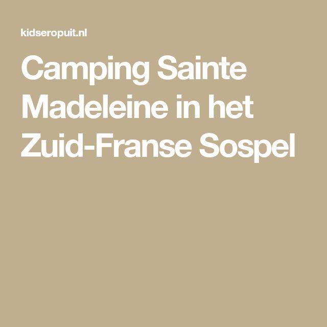 Camping Sainte Madeleine in het Zuid-Franse Sospel