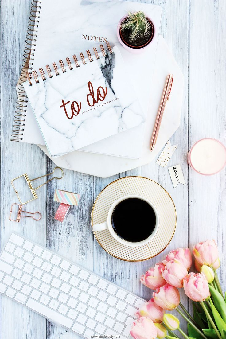 how to overcome self-doubt, achieve goals, value accomplishments rose gold flatlay inspiration