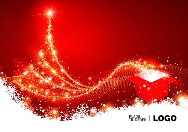 Julekort uden støtte. Motiv: Juletræ, julepynt ...