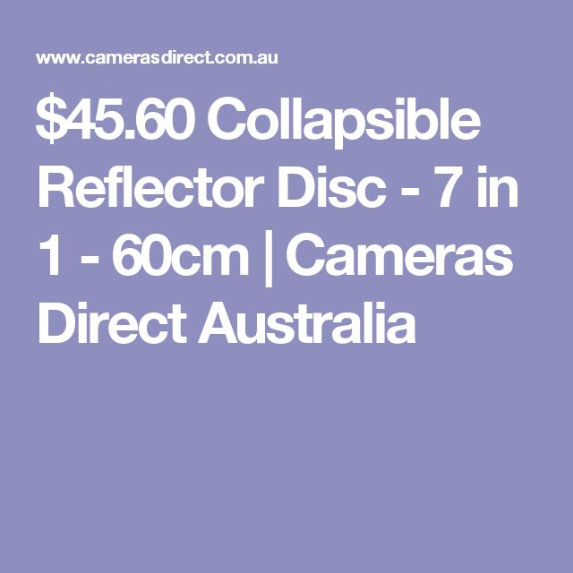 $45.60 Collapsible Reflector Disc - 7 in 1 - 60cm | Cameras Direct Australia