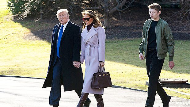 Barron Trump 13 Is Almost An Entire Head Taller Than Dad Donald Now He S Grown So Much In New Pics Hollywoodlife In 2020 Hollywood Life Trump Suits Barron