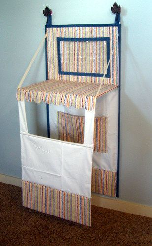 Custom completed Puppet Theater. Store away when not using.. $65.00, via Etsy.