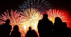 Firework shows in Bakersfield, Kern County - July 2014