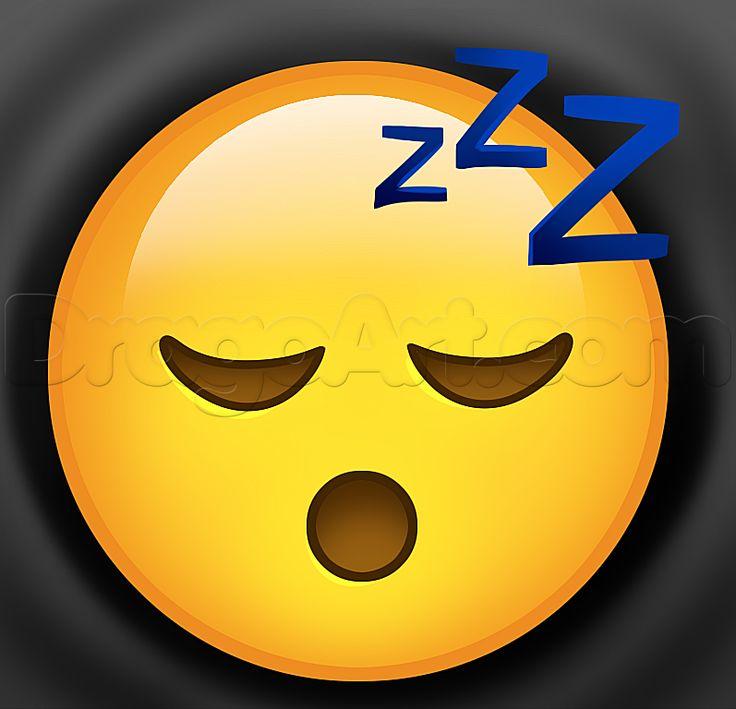 how to draw sleep emoji