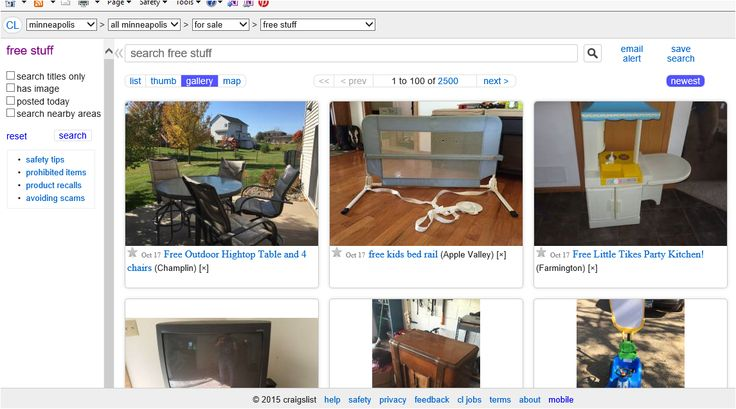 Free Category On Craigslist Has Lots Of Items That Have Much Use Left In Them Check Em Out In Your Area Living On A Budget Minneapolis St Paul Minneapolis