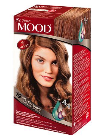 » N 19 GYLLENCENDRÉ Permanent hårfärg med det unika komplexet multitechnology – ett 4 in 1-system som färgar, tvättar, skyddar och vårdar ditt hår, för naturlig färg och glans. Täcker grått hår upp till 100%.  Cendrényans med svagt gyllene toner. Mörkt hår blir något ljusare. Ljust och blonderat hår blir mörkare. Grått hår blir naturligt mörkt guldblont.