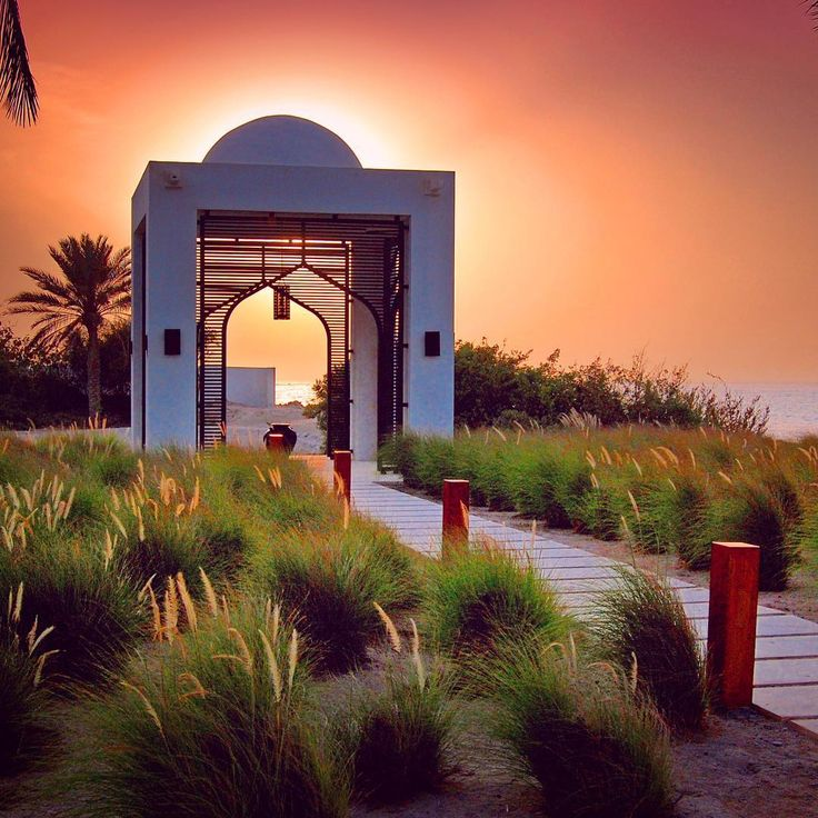 https://www.instagram-travelplusstyle..Sunset at the Chedi Muscat hotel in Oman. Photo by @travelplusstyle.