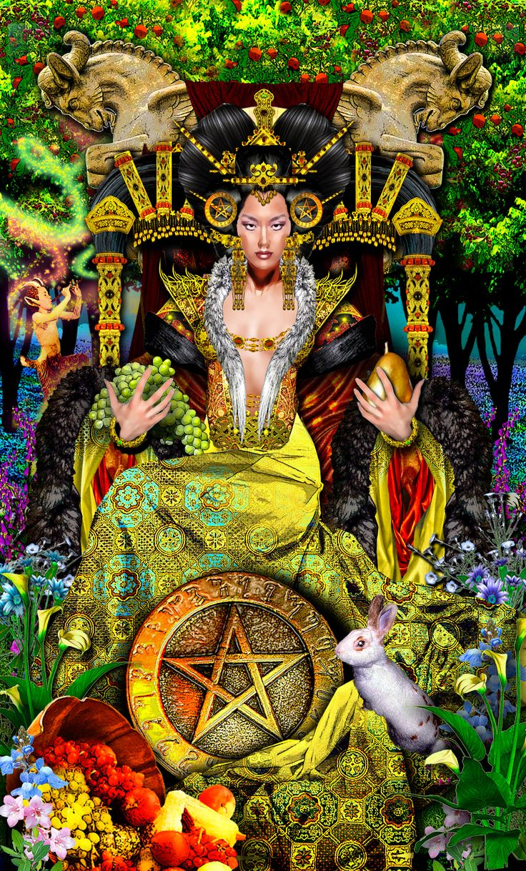 Tarot And More 2 Tarot Cards Symbolism: Tarot Illuminati - Queen Of Pentacles