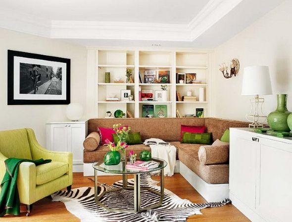 Маленькая гостиная с асимметрией