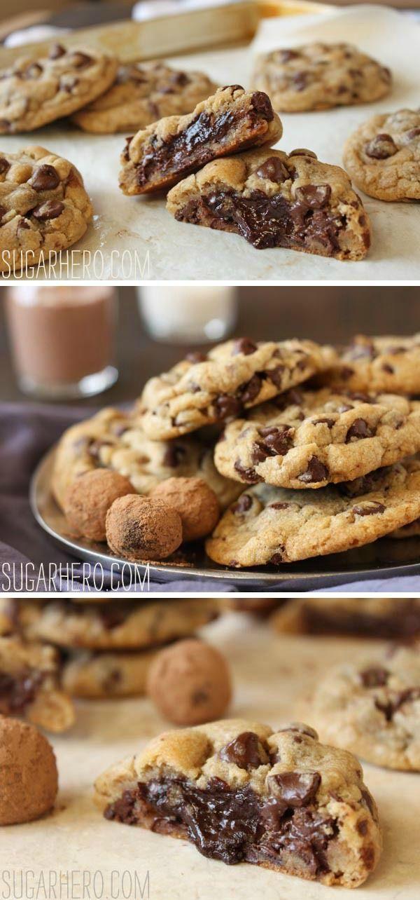 Truffle-Stuffed Chocolate Chip Cookies