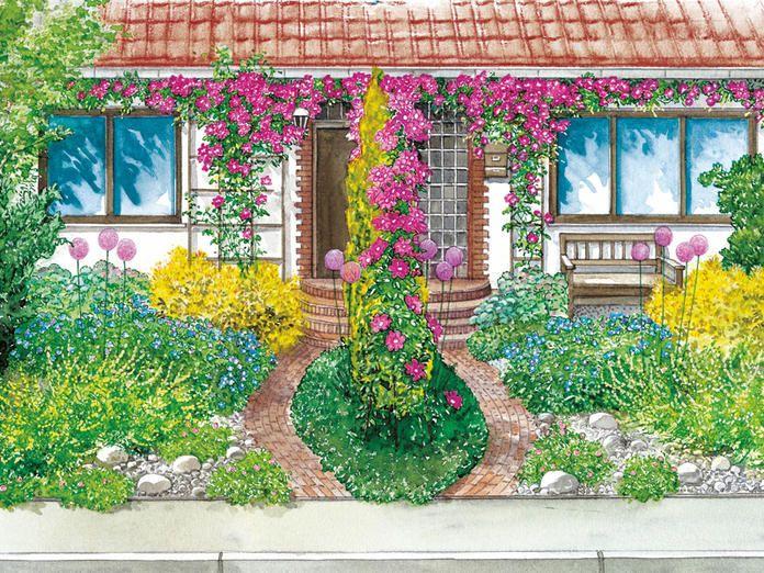Vorgartengestaltung 40 Ideen Zum Nachmachen Vorgarten Vorgartengestaltung Garten