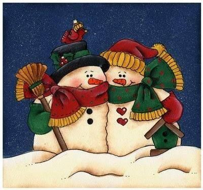 muñeco de nieve en cuadro